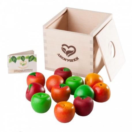 12 Наливных яблочек - 4 сорта в коробочке-сортере, Леснушки (Россия)