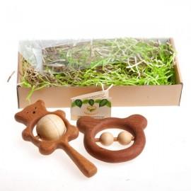 Подарочный набор деревянных погремушек Братец - медвежонок Леснушки (Россия)