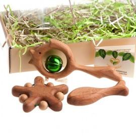 Подарочный набор деревянных погремушек Сокровища синего моря маленький Леснушки (Россия)
