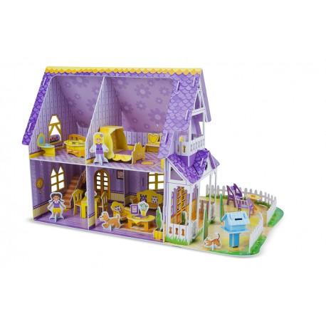"""""""Пазл""""3D Пурпурный домик для куклы Melissa and Doug (США)"""