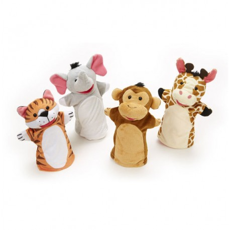 "Плюшевые куклы на руку ""Зоопарк"", Melissa and Doug"