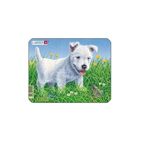 Пазл  белый щенок,  mini Larsen (Норвегия)