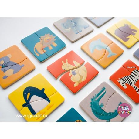 Пазл Разноцветные животные Djeco (Франция) 01550