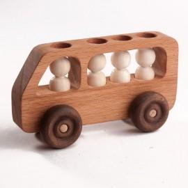 Машинка Автобус с пассажирами Леснушки