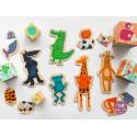 Деревянный пазл-магниты Забавные животные DJECO (Франция) 03111