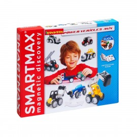 """Магнитный конструктор """"Мощная техника"""" SMARTMAX"""
