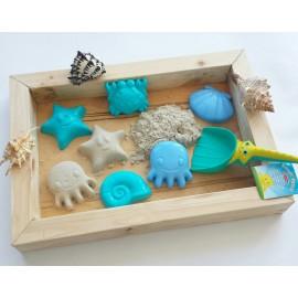 Деревянная песочница для кинетического песка. Hand Made