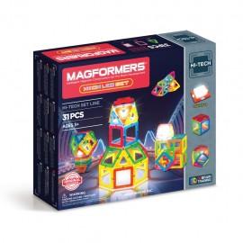 Магнитный конструктор MAGFORMERS Neon Led set (31 дет)