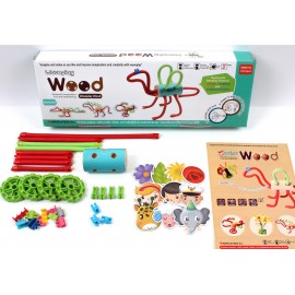 Гибкий конструктор Waveplay Динозавр (Корея) 10C wood