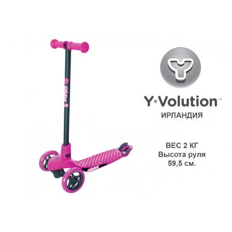 Самокат Yvolution Glider Air, розовый