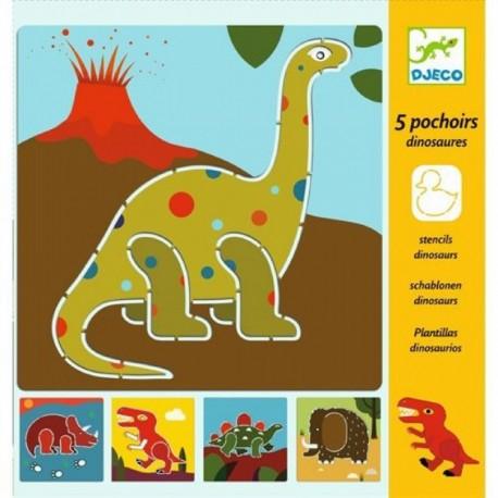 Трафареты Динозавры Djeco (Франция)