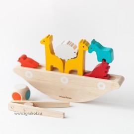Балансирующая лодка Plan Toys
