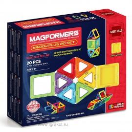 Магнитный конструктор MAGFORMERS Window Plus Set (20 деталей) 715001