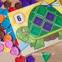 "Мозаика ""Черепашка"" Посчитай по пуговкам Melissa and Doug (США) 4319"