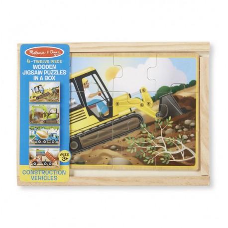 """Деревянные пазлы в коробке """"Строительство"""" Melissa and Doug (ША)  3792"""