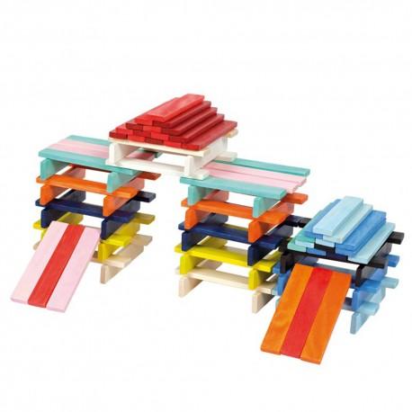 Конструктор Разноцветные планки Janod