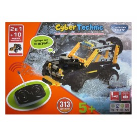 Конструктор cyber toy 2 в 1, 313 деталей (джип)