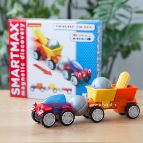 """""""Трейлер Томми"""" - магнитный конструктор SMARTMAX (Бельгия)"""