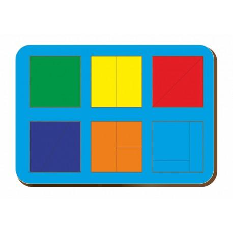 Сложи квадрат Никитина, 6 квадратов 1 уровень Woodland