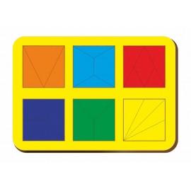 Сложи квадрат Никитина, 6 квадратов 2 уровень Woodland