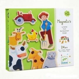 Магнитная игра ферма 24 детали Djeco (Франция) 03110
