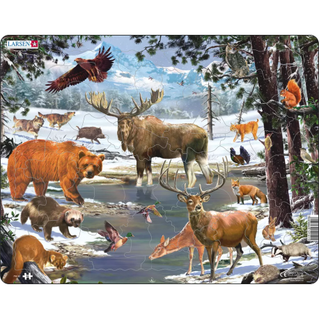 Пазл животные северной европы Larsen (Норвегия) FH32