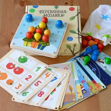 Мозаика деревянная 19 карточек Raduga Kids (Россия)