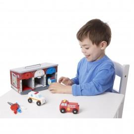 """Классические игрушки"""" Гараж со спасательными машинами Melissa and Doug (США) 4607"""