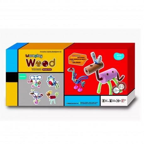 Гибкий конструктор Животные Waveplay (Корея) 20D wood