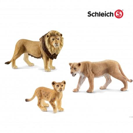 Семья львов Schleich (Германия)