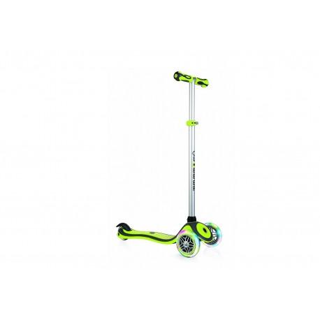 Самокат GLOBBER  PRIMO PLUS LIGHTS (Зеленый) свет колёса