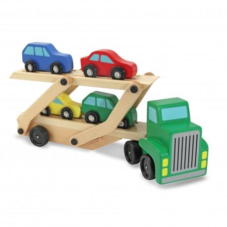 Погрузчик для четырех разноцветных машин Melissa and Doug (США)
