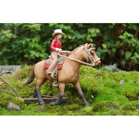 Всадница на лошади в красном Schleich (Германия) 42112