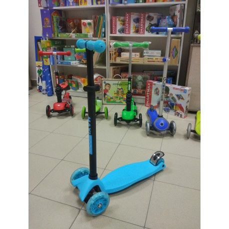 Самокат трехколесный Maxiscoo синий