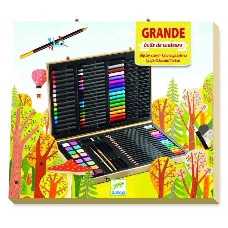 Большой художественный набор: карандаши, фломастеры, краски Djeco (Франция) 09750