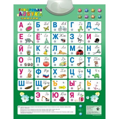 Электронный звуковой плакат Говорящая азбука ЗНАТОК PL-08