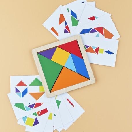 Головоломка Танграм с карточками Raduga Kids