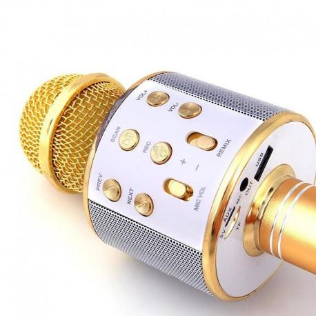 Детский кароке микрофон (цвет золотой)