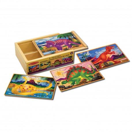 Деревянные пазлы в коробке Динозавры Melissa and Doug (США) 3791