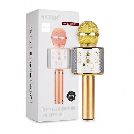 Оригинальный караоке-микрофон WSTER (золотой)