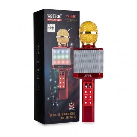 Оригинальный караоке-микрофон WSTER (красный) ws-1828