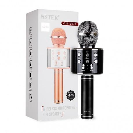 Оригинальный караоке-микрофон WSTER (черный) ws-858