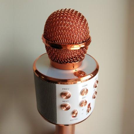 Детский кароке микрофон (цвет розовое золото)