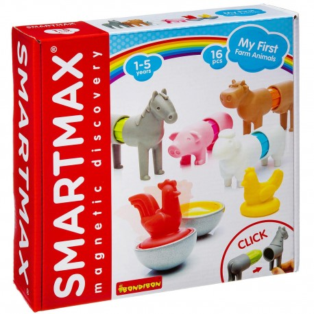 Мой первый набор животных фермы, 16 дет Smartmax