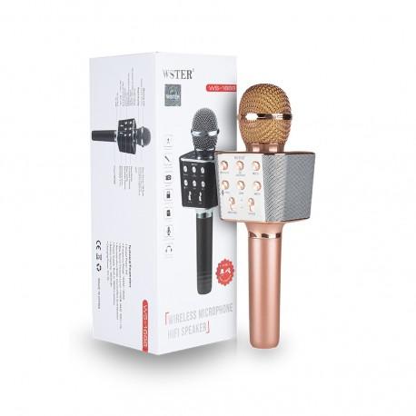 Оригинальный караоке-микрофон WS-1688 (розовое золото)