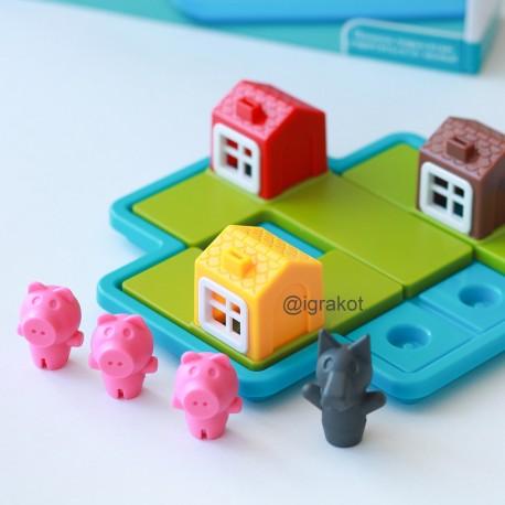 """Настольная игра """"Три поросенка""""  Smart Games ( Bondibon )"""