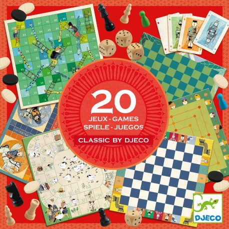 Набор настольных игр 20 в 1 Djeco (Франция) 05219