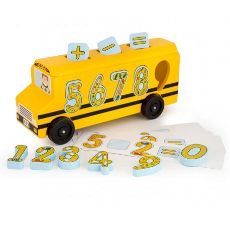 Деревянный автобус сортировщик-цифры Melissa and Doug (США) 9398