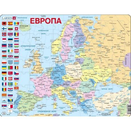 Пазл Карта Европа Larsen (Норвегия) A35