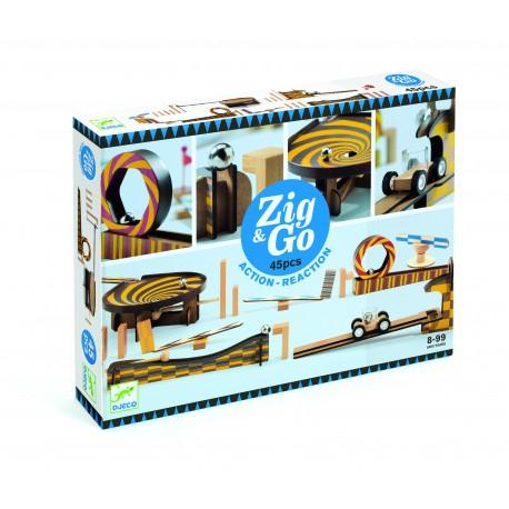 Деревянный конструктор Zig Go (зигн гоу) 45 дет. Djeco (Франция) 05643